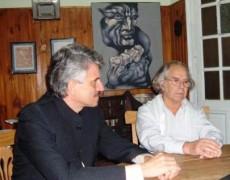 Meeting of Consul General Dr. Sergio Lais-Suarez with The Nobel Peace Prize Adolfo Perez Esquivel.