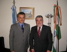 Reunion del  Sr. Gobernador de la Provincia de Chubut Dn. Mario Das Neves con el Consul General Hon. de India Dr Sergio Lais-Suarez
