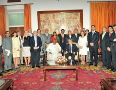 El gobernador de San Luis se reunió con el gobernador de Tamil Nadu